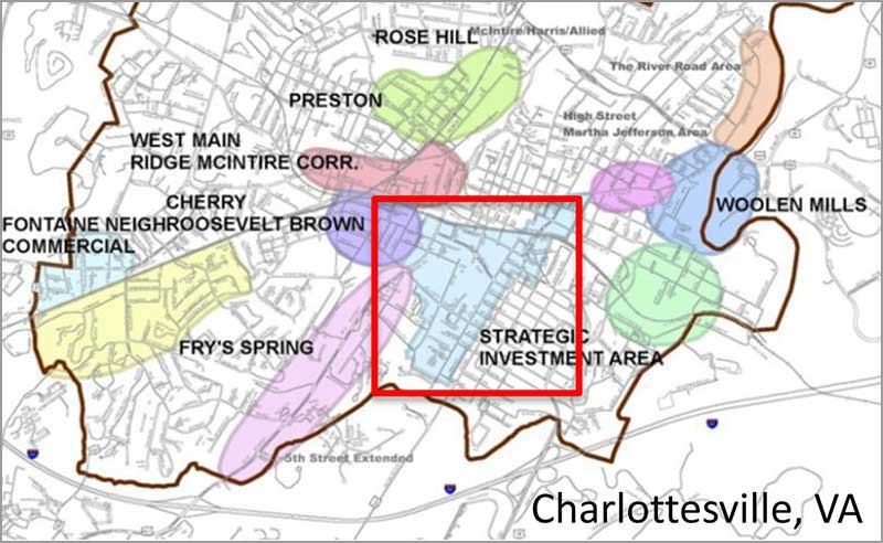 SIA Area Map context Charlottesville